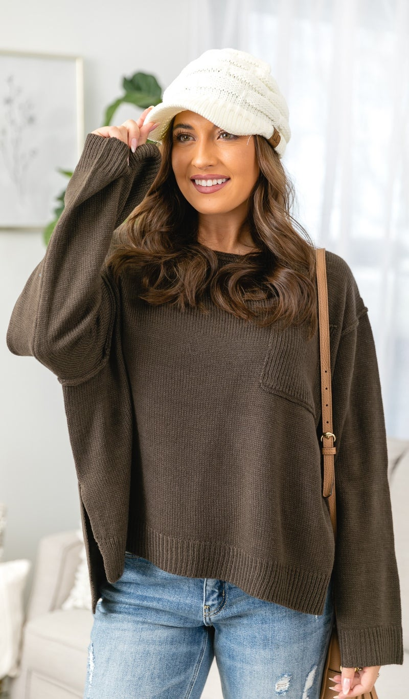 How It Goes Sweater, Brown