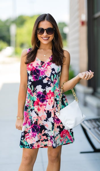 The Perfect Day Dress, Black Floral