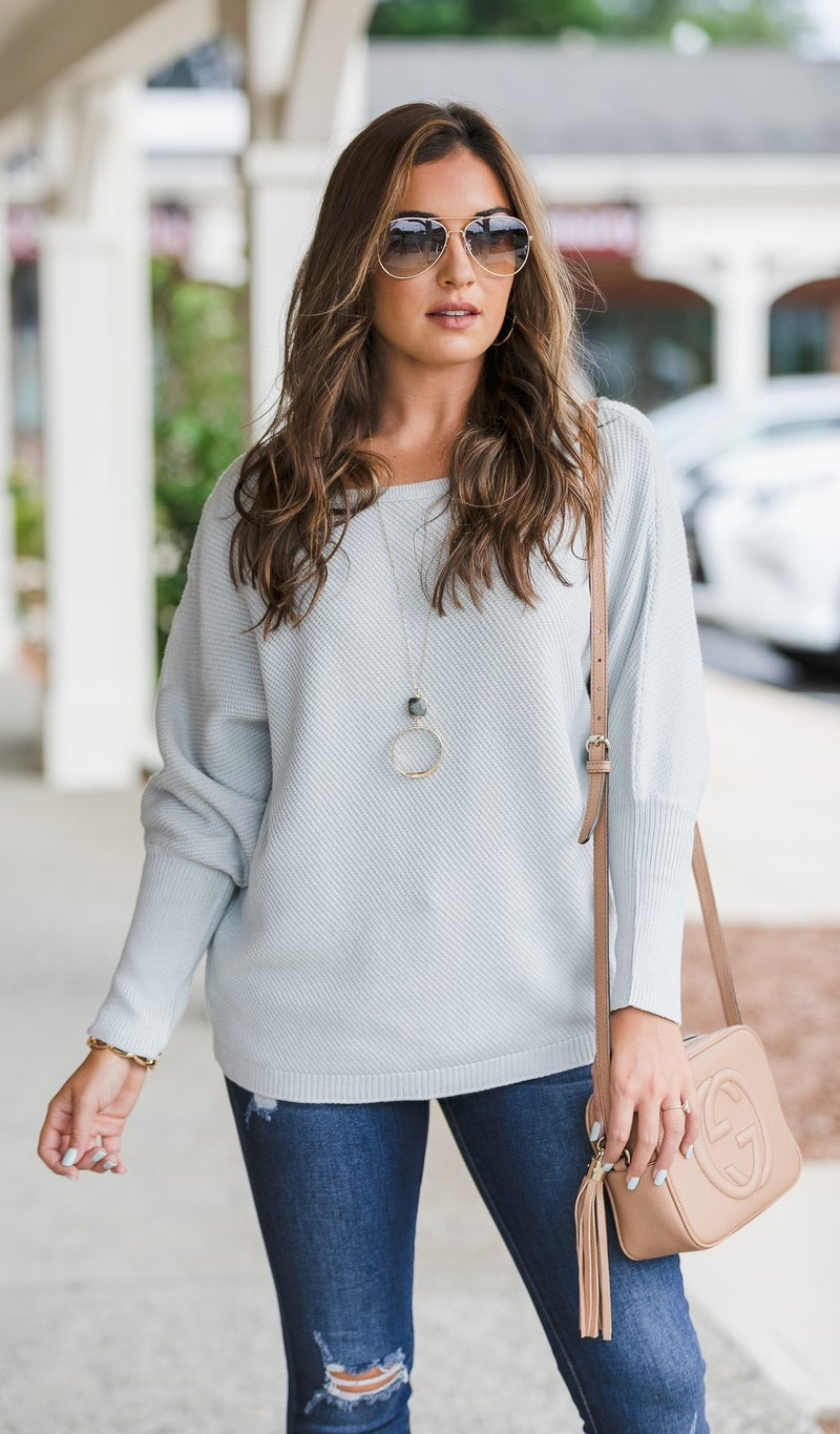 Keeping Up Sweaters, Mist or Black
