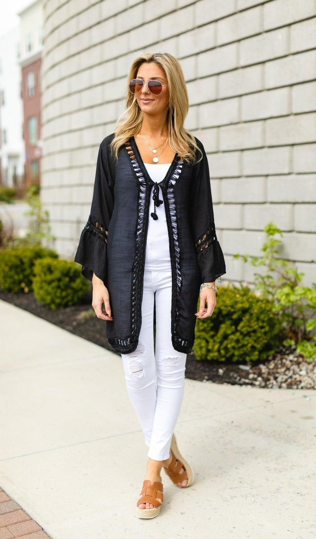 St. Croix Kimono, White or Black
