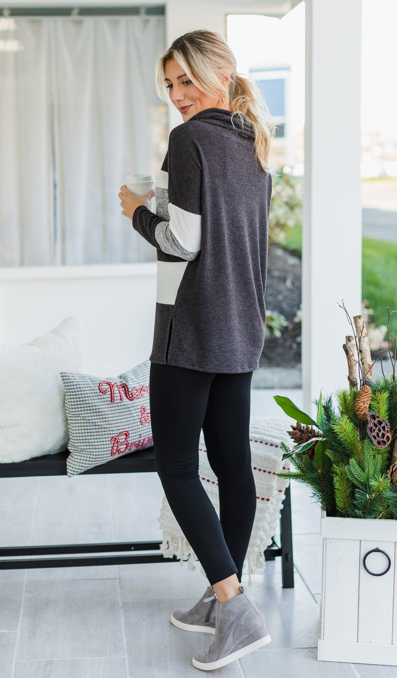 Picture Perfect Tunic, Charcoal
