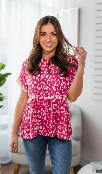 The Carson Top, Hot Pink *Final Sale*