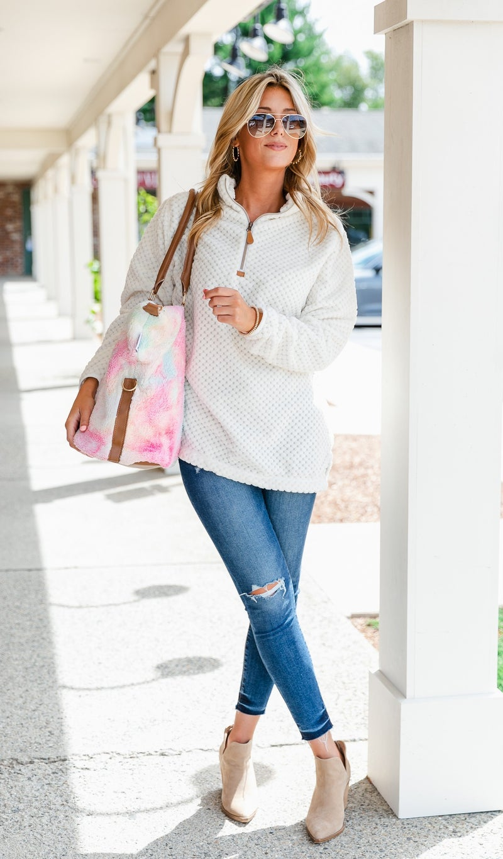 Tie Dye Sherpa Weekender Bag, Cotton Candy