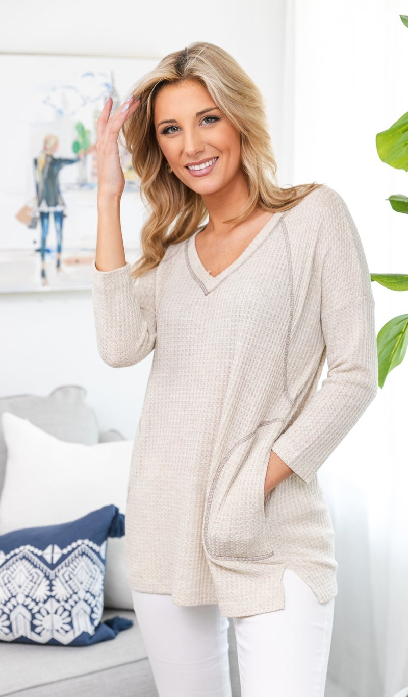 Breezin' By Top, Taupe Or Mint