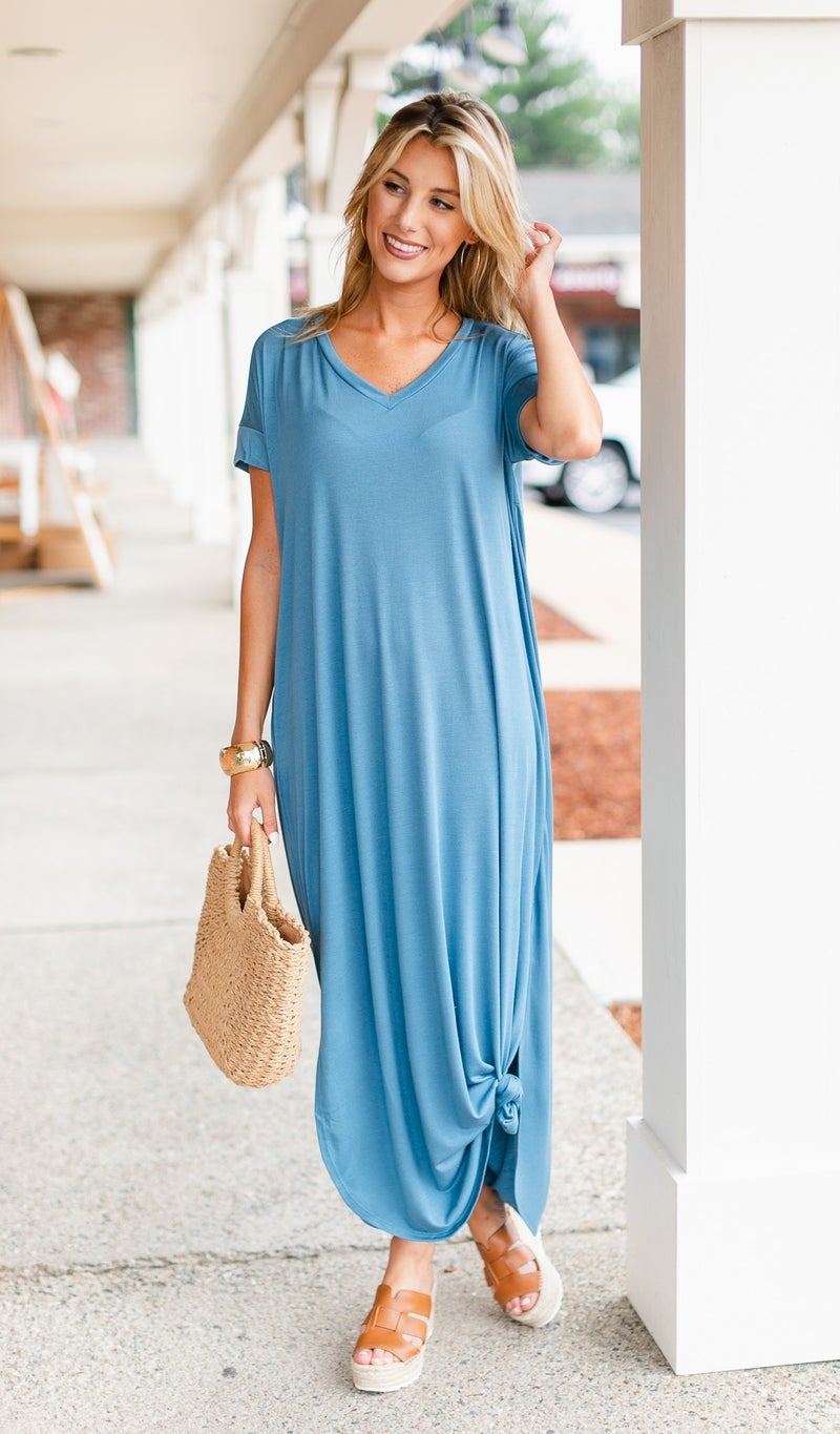 With Love Slouchy Maxi, Blue or Grey