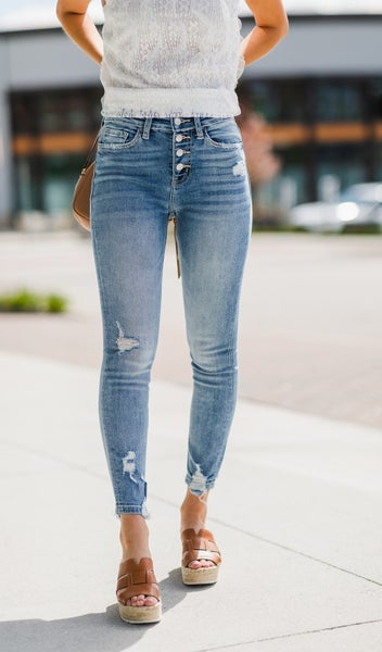 On The Town Jeans, Light Wash