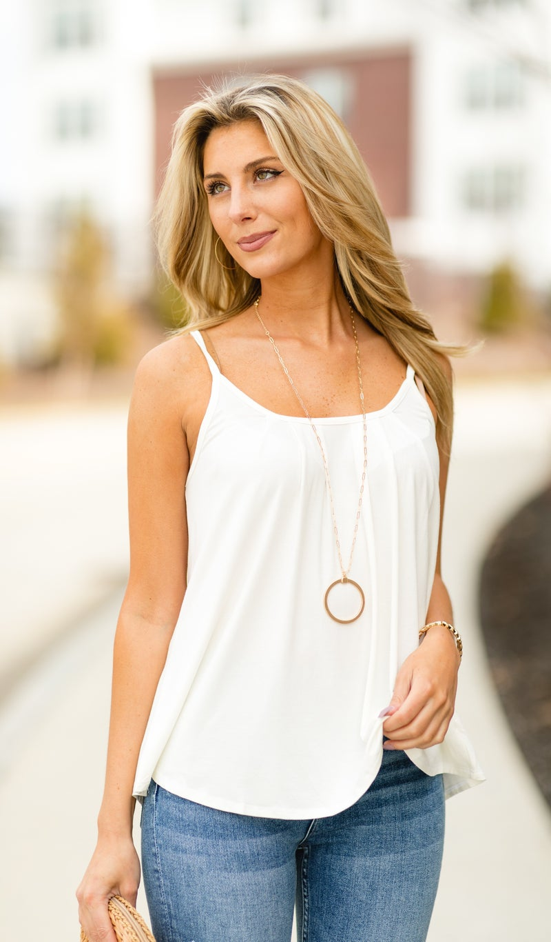 Staple In Spring Tank, Ivory