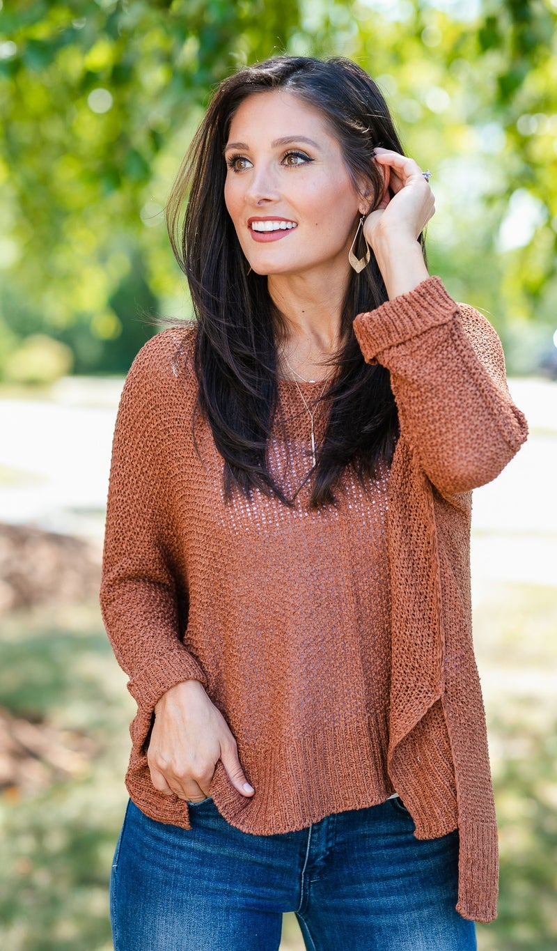 The Daydreamer Sweater, Grey or Rust