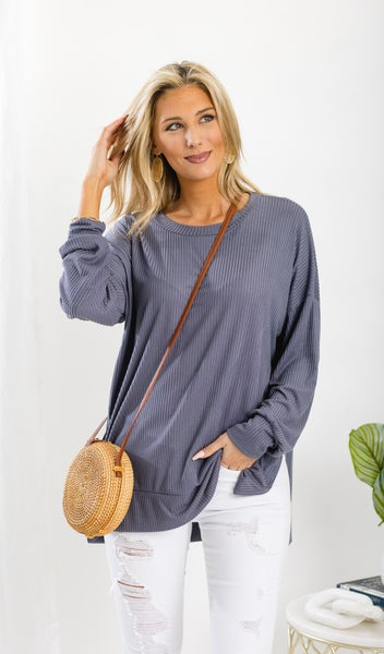 Spring Beginnings Top, Grey