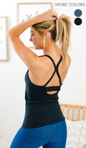 The Becca Workout Tank, Black, Blue, or Navy