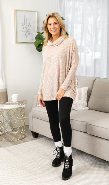 Cozy Love Waffle Tunic, Taupe or Grey