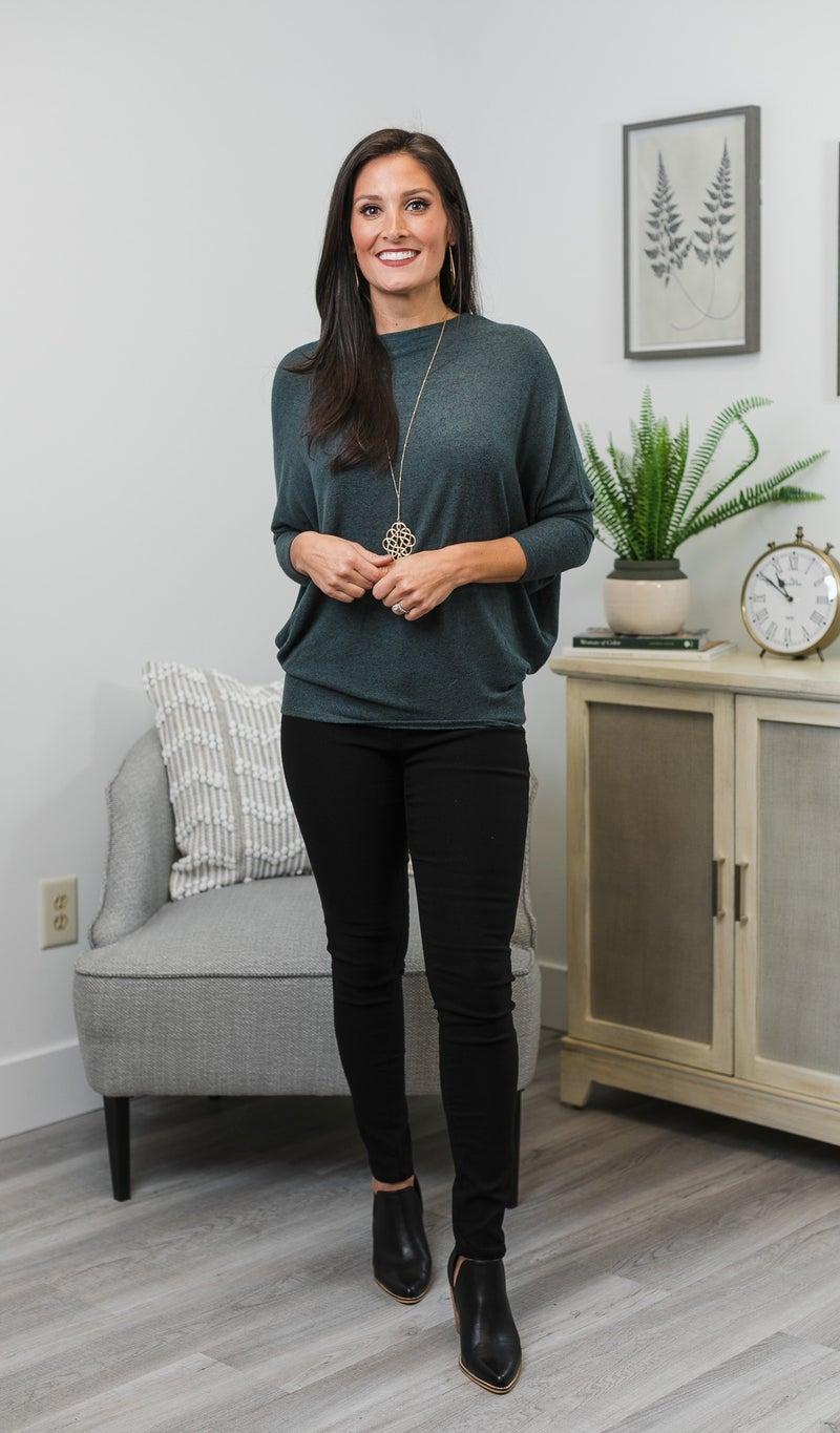 The Shannon Top, Dark Teal