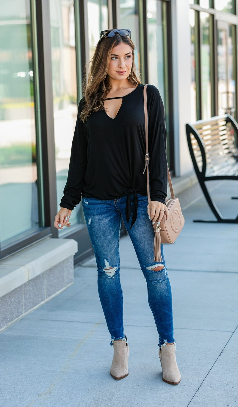Day To Night Top, Black