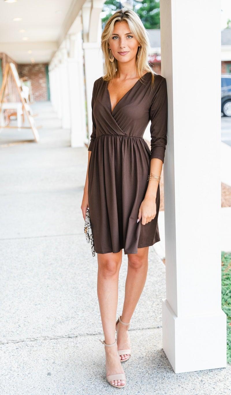Morning Fields Dress, Brown
