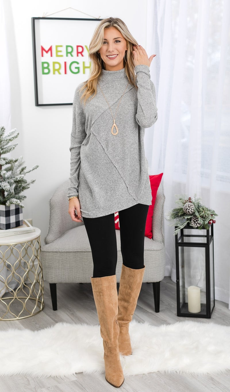 Wishful Thinking Tunic, Heather Grey