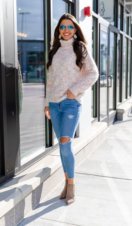 Funfetti Sweater, Beige