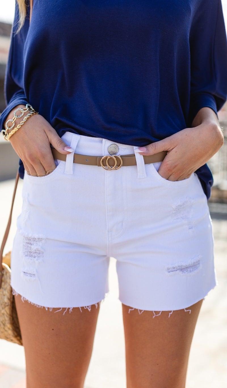 The Picnic Shorts, White