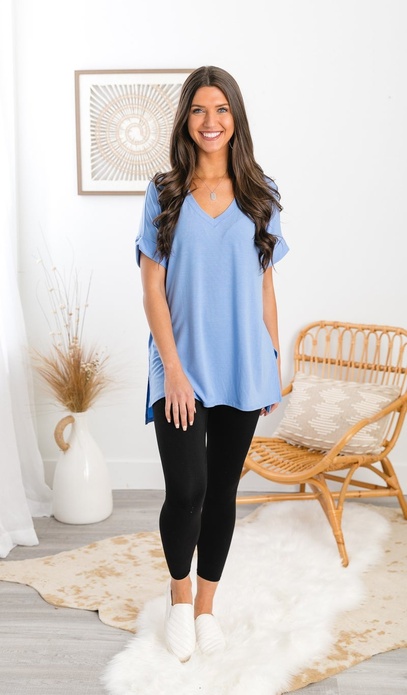 The Classic Staple Top, Spring Blue