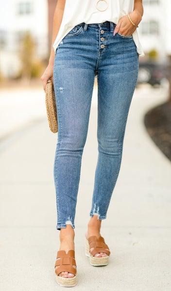 Happy Days Skinny Jean, Medium Wash