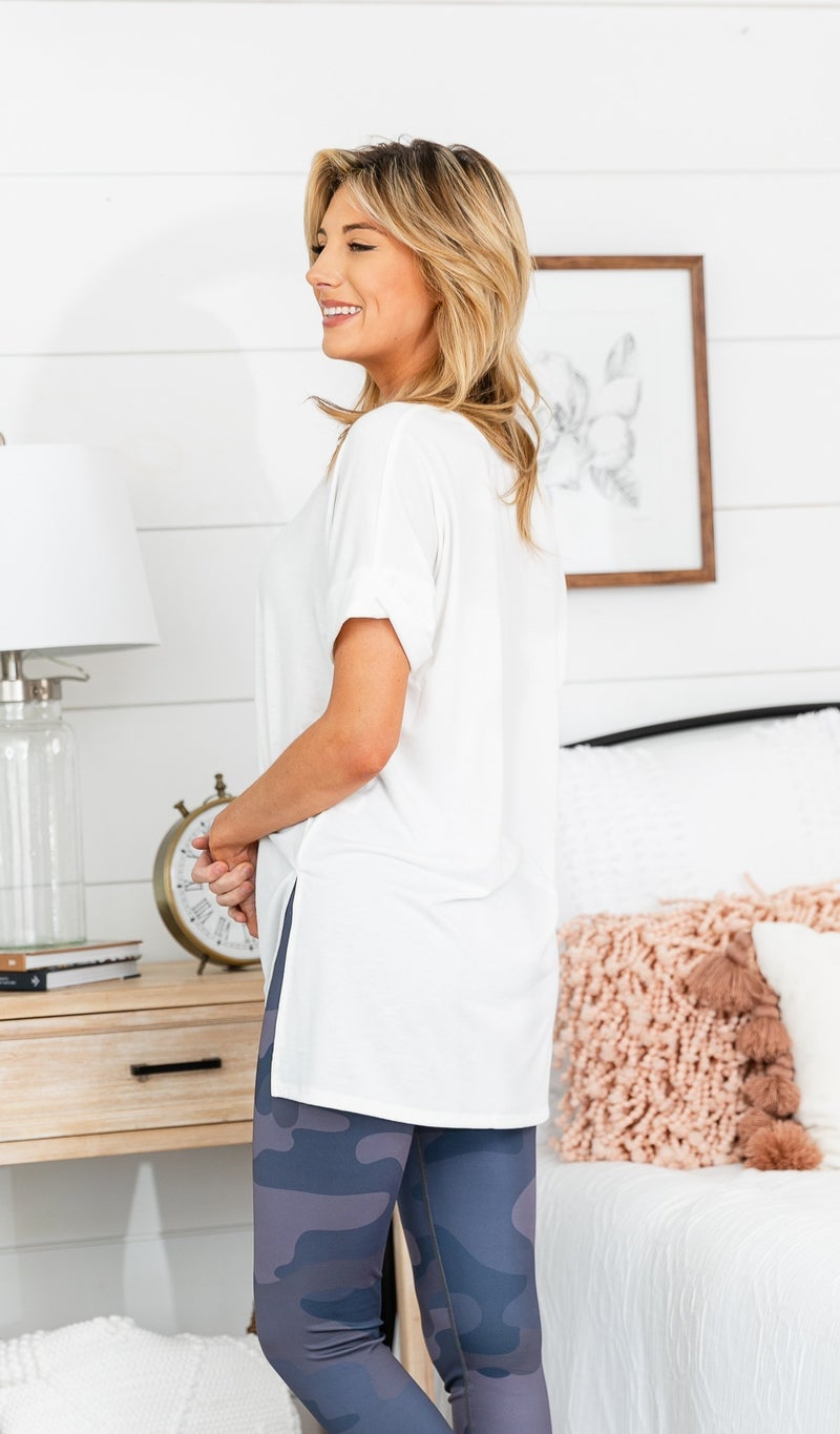 The Willow Oversized Tee, Ivory