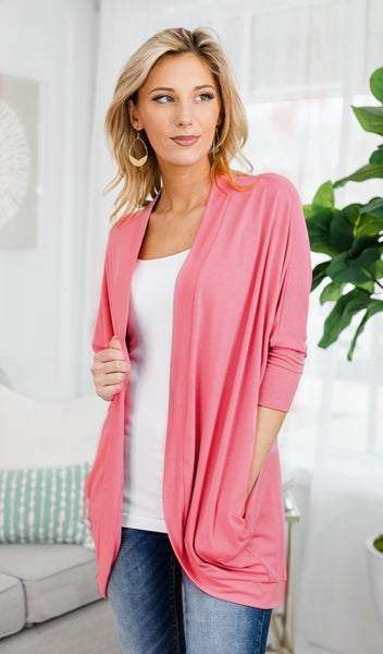 Cool Summer Nights Cardigan, Rose