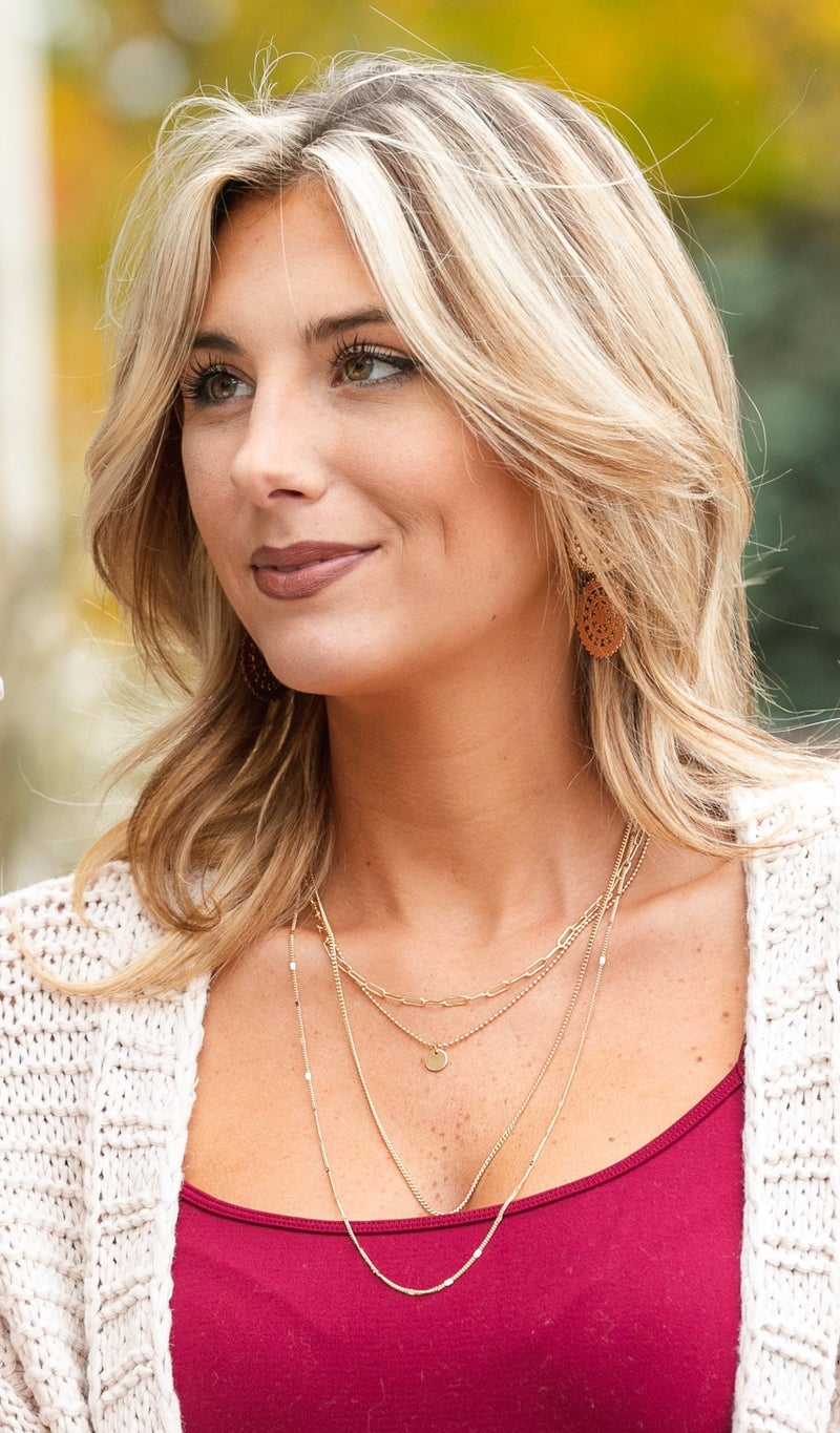 Layered Necklace, Gold