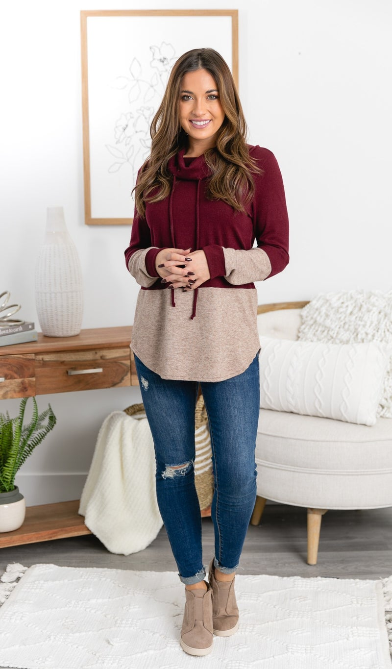 The Jessica Tunic/Top, Burgundy