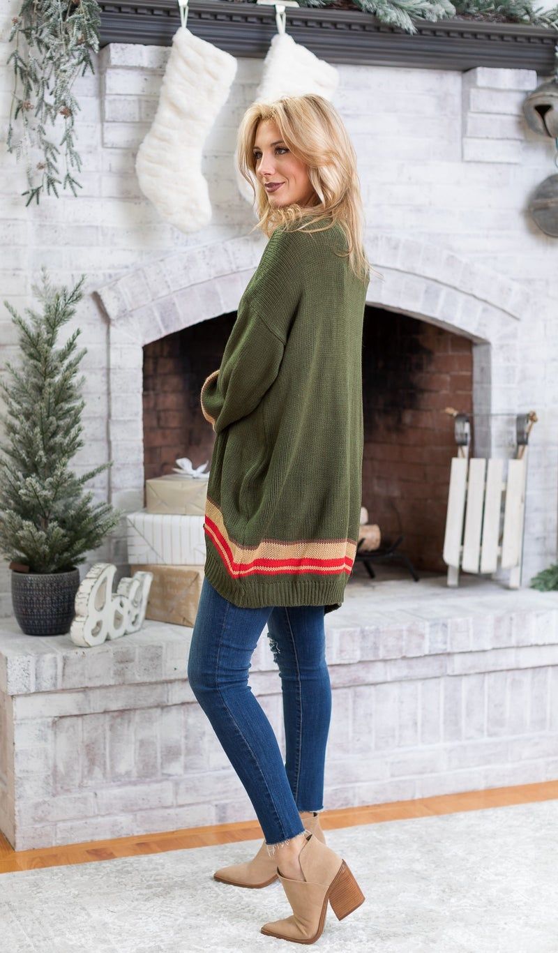 An All Time Fav Cardigan, Olive