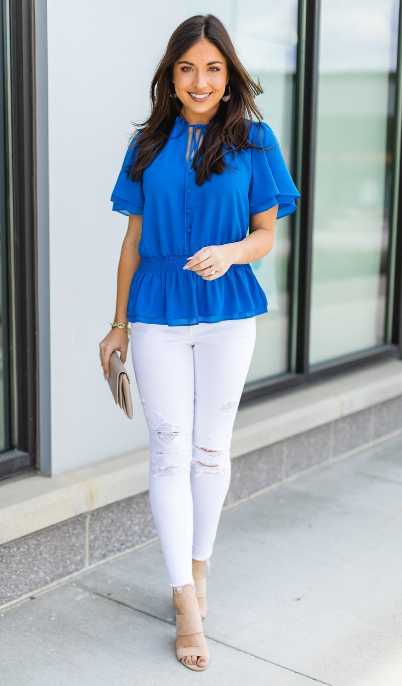 The Coco Top, French Blue
