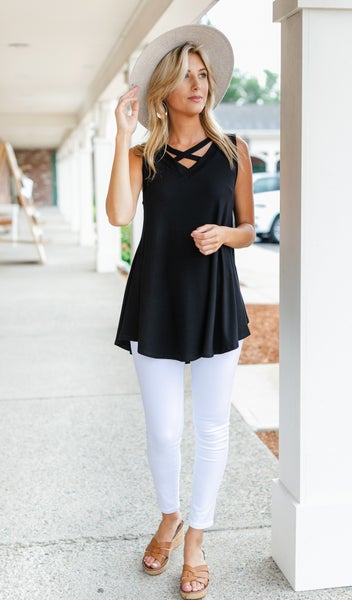 To The Keys Tunic, Black