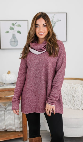 Always Going Back To You Tunic, Burgundy