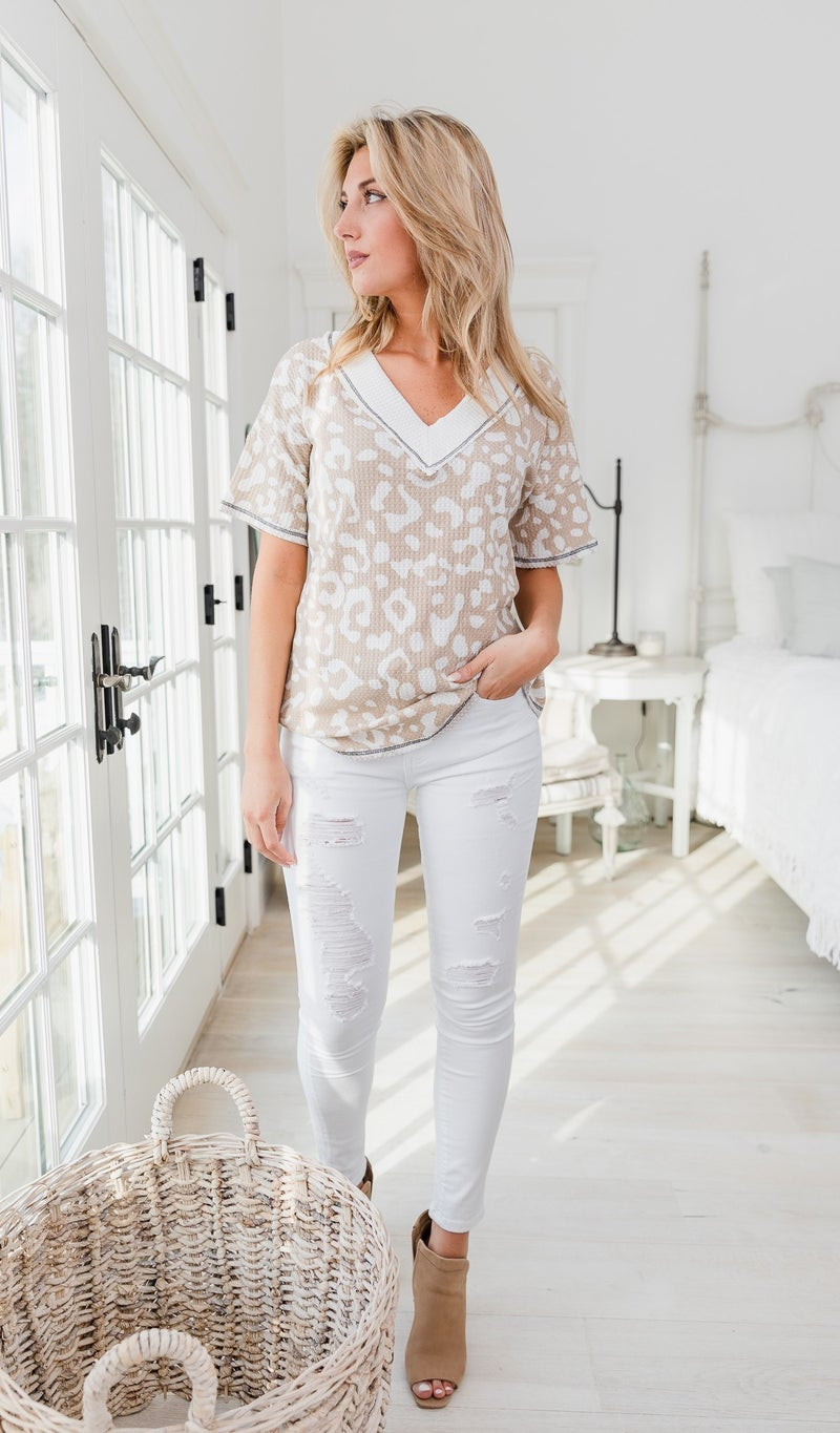 The Christina Top, Oatmeal