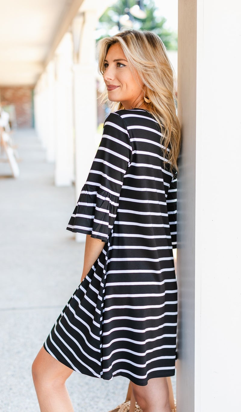 With The Wind Dress, Black