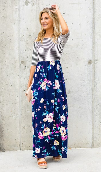 The Ari Maxi Dress, Navy