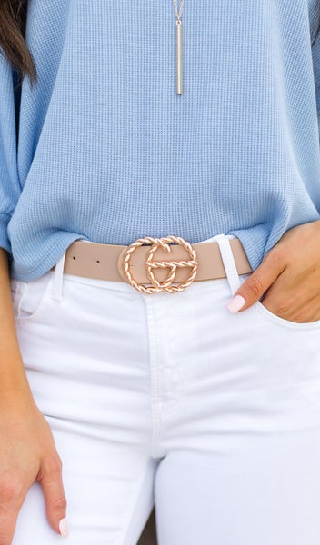 Added Detail Belts-Black, Taupe, or White