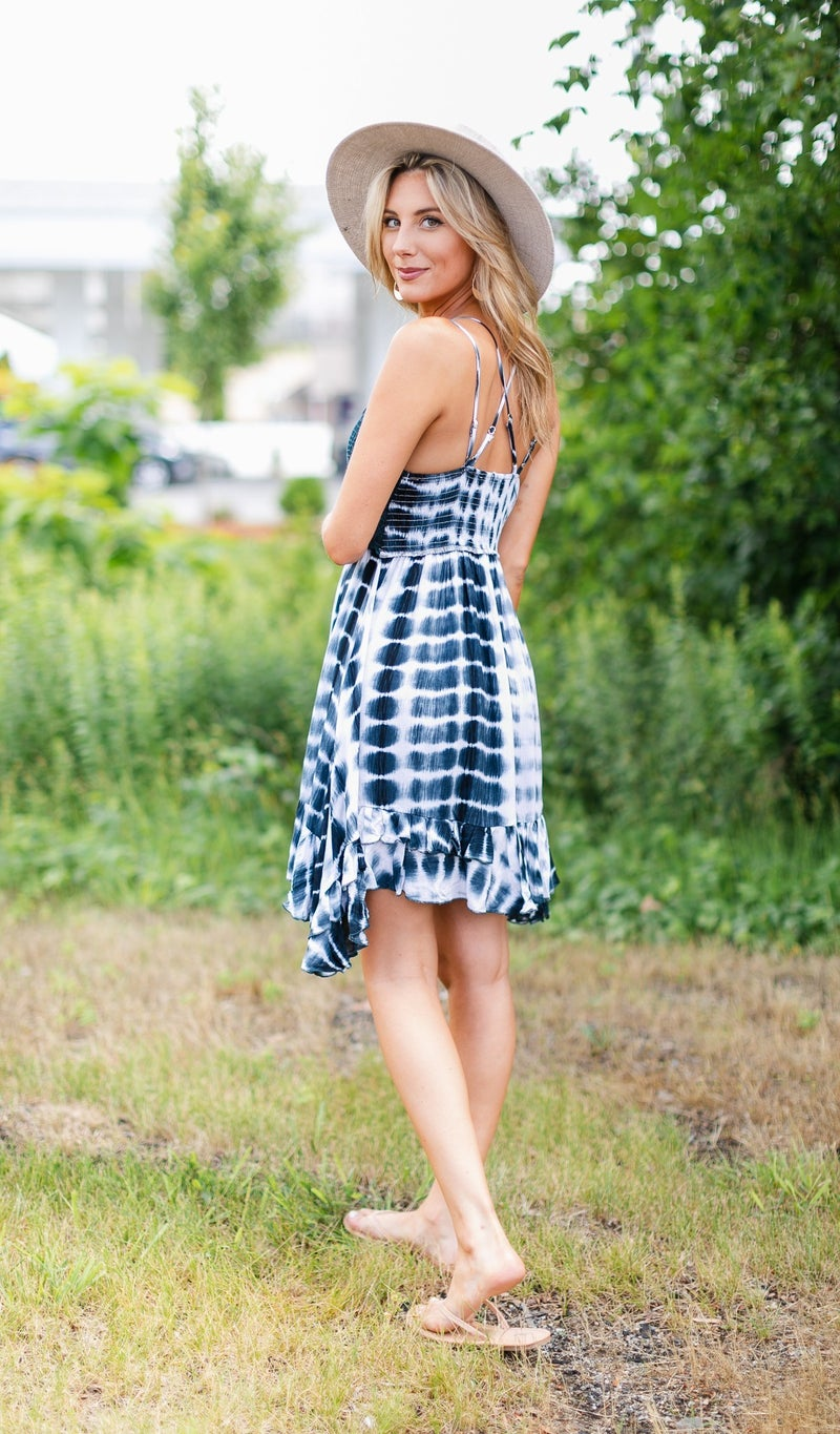 Golden Hour Dress, Navy