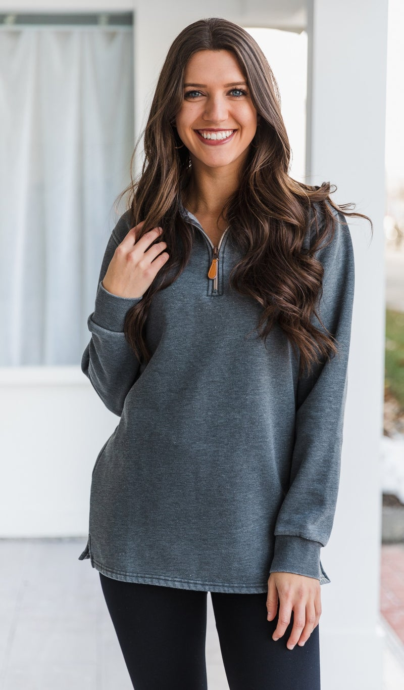 The Stella Pullover, Charcoal