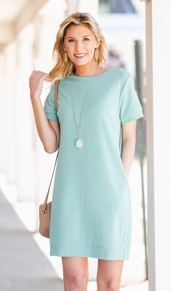 Carefree Kinda Day Dress, Sage