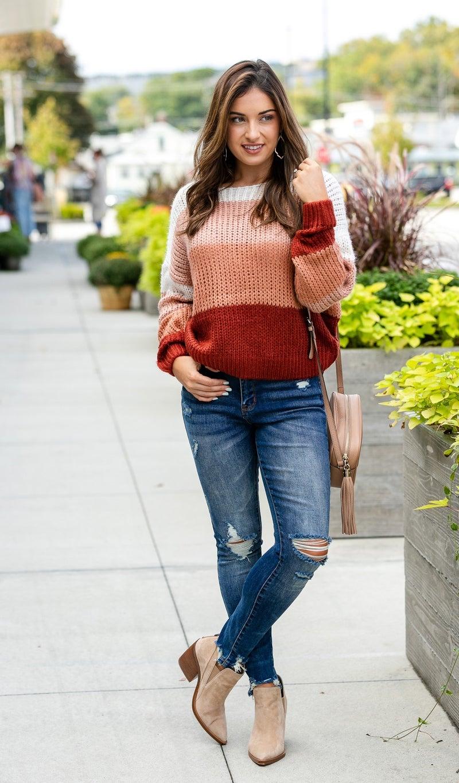 The Natasha Sweater, Mauve