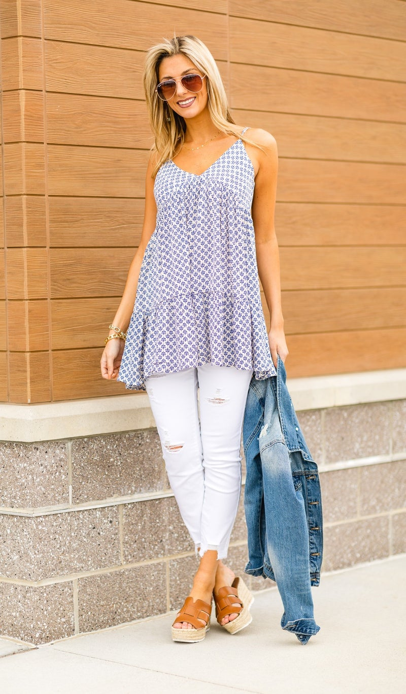 Sun Seeker Top, Blue