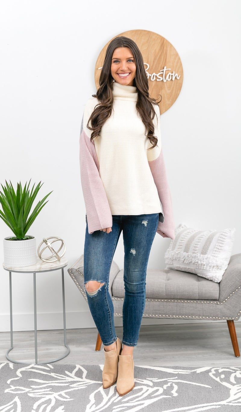Feeling Cool Sweater, Cream Multi