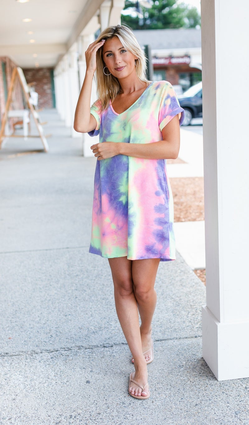 In Time Dress, Tie Dye