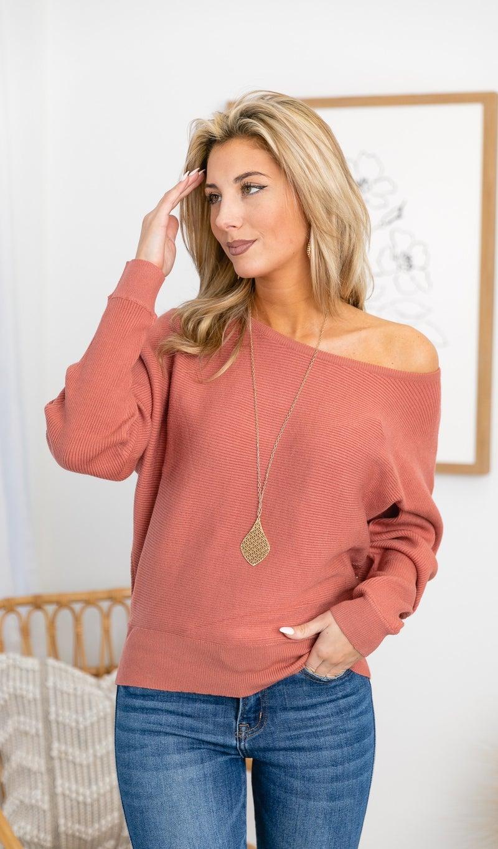 The Delia Sweater, Terracotta