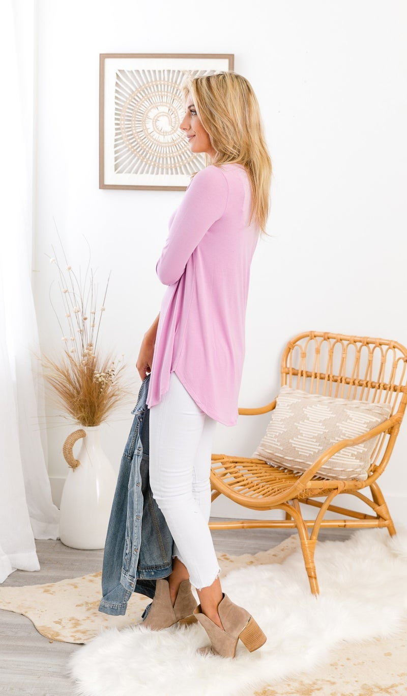Love All Day Top, Black, Mauve, Cement, Pink