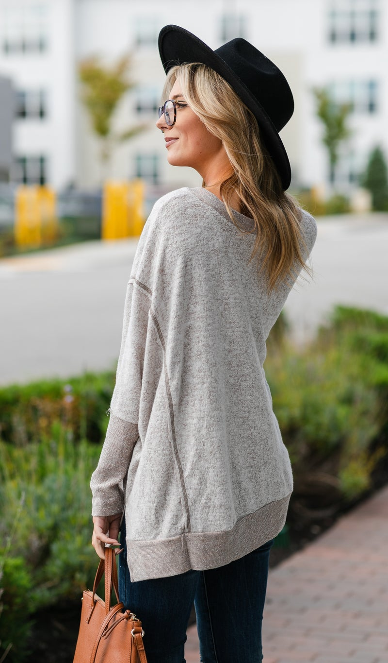 One To Impress Tops, Taupe