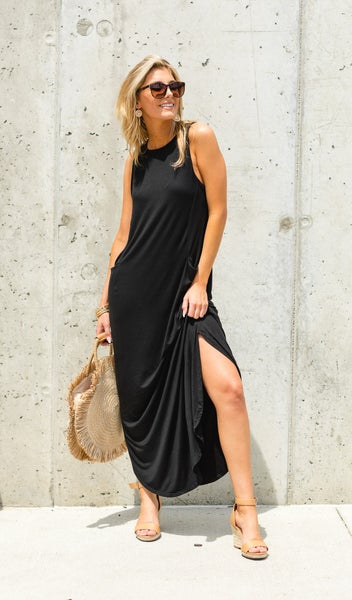 The Bethany Dress, Multiple Colors - BLACK