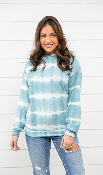 Winter Blue Hoodie, Tie Dye