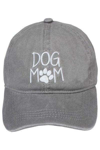 Dog Mom Hat, Black, Dusty Pink, Grey