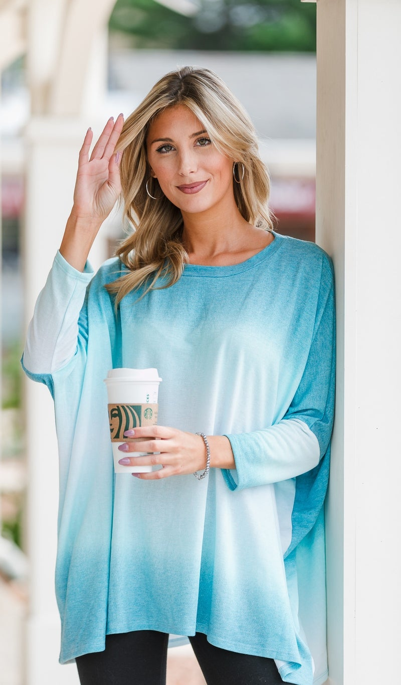 Just For You Tunic, Blue Jade