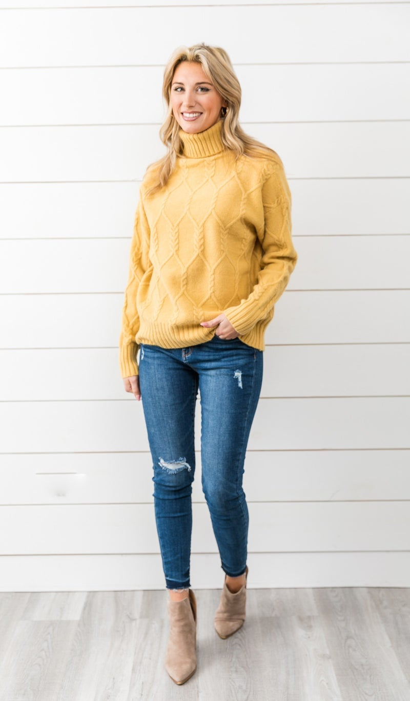 The Sammi Sweater, Yellow